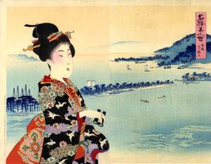 Yōshū Chikanobu Ama no Hashidate nella provincia di Tango