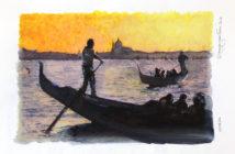 Venezia, Gondola. LE FOTODIPINTE DI ANDREA SAMARITANI.