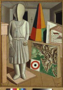 Carlo Carrà, La musa metafisica, 1917
