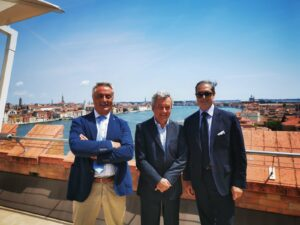 Ilario Ierace, Giulio Biasion, Antonello Dè Medici presenti alla conferenza stampa di TDF di Venezia del 21/07/2020